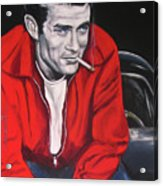 James Dean - Picture In A Picture Show Acrylic Print by Eric Dee