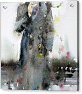 James Dean - Watercolor Portrait.3 Acrylic Print