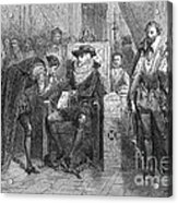 James I Appoints Bacon Lord Chancellor Acrylic Print