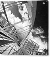 James Joyce Bridge Bw Acrylic Print