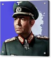 James Mason As Erwin Rommel Publicity Photo The Desert Fox 1951 Color Added 2016 Acrylic Print