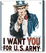 I Want You For U.s. Army Acrylic Print