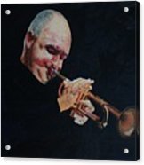 James Morrison In Action   Autographed Acrylic Print