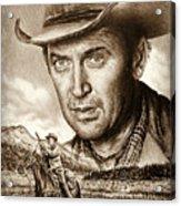 James Stewart The Far Country Acrylic Print