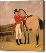 James Taylor Wray Of The Bedale Hunt With His Dun Hunter Acrylic Print