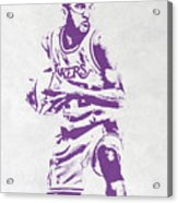 James Worthy Los Angeles Lakers Pixel Art Acrylic Print