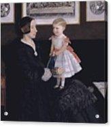 James Wyatt Jr And Her Daughter Sarah Acrylic Print