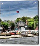 Jamestown Boat Yard Acrylic Print