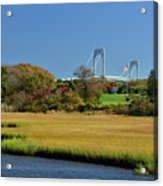 Jamestown Marsh With Pell Bridge Acrylic Print