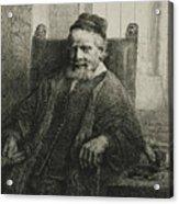 Jan Lutma, The Elder, Goldsmith And Sculptor Acrylic Print