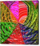 Janca Colors Panel Abstract # 5212 Wtw7 Acrylic Print