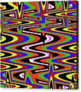Jancart Drawing Abstract #8455ws Acrylic Print