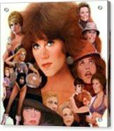 Jane Fonda Tribute Acrylic Print