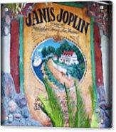 Janis Joplin In Concert Mural Acrylic Print