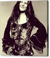 Janis Joplin, Music Legend Acrylic Print