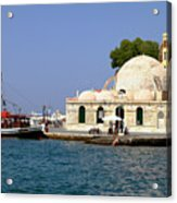 Janissaries Mosque And Caique In Chania Acrylic Print