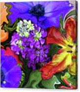 January Bouquet Acrylic Print