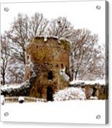 January Snow In England  Acrylic Print