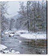 January Snow On The River Acrylic Print