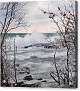 January Winds And Waves Acrylic Print