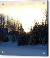 January Winter Morninng Acrylic Print