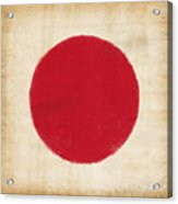 Japan Flag Acrylic Print by Setsiri Silapasuwanchai