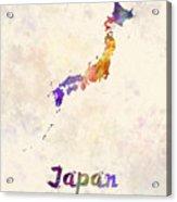 Japan In Watercolor Acrylic Print
