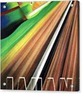 Japan, Japanese Railways, Travel Poster Acrylic Print
