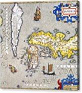 Japan: Map, 1606 Acrylic Print