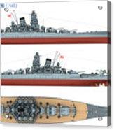 Japanese Battleship Yamato Acrylic Print