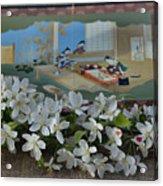Japanese Cherry Blossoms Branch  Acrylic Print