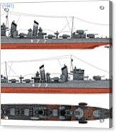Japanese Destroyer Fubuki Acrylic Print