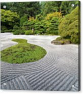 Japanese Flat Garden With Checkerboard Pattern Acrylic Print