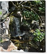 Japanese Garden And Koi Pond Acrylic Print