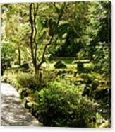 Japanese Garden At Butchart Gardens In Spring Acrylic Print