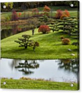 Japanese Garden Autumn Acrylic Print