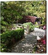 Japanese Garden Path With Azaleas Acrylic Print