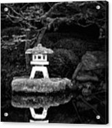 Japanese Garden Reflection Acrylic Print