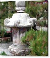 Japanese Garden Stone Lantern Statue Acrylic Print