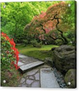 Japanese Garden Strolling Stone Path Acrylic Print