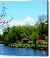 Japanese Gardens In Spring Acrylic Print
