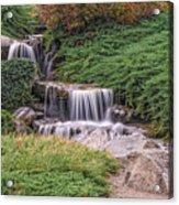 Japanese Gardens Waterfall Acrylic Print