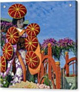 Japanese Geisha Float Acrylic Print