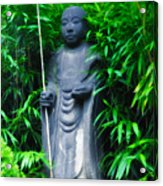 Japanese House Monk Statue Acrylic Print