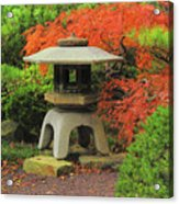 Japanese Maple And Lantern 1 Acrylic Print
