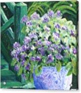 Japanese Pot At Monets Home Acrylic Print