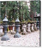 Japanese Stone Lanterns Acrylic Print