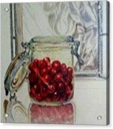 Jar Of Cherries Acrylic Print