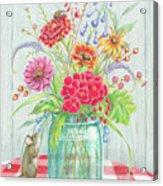 Jar Of Flowers Acrylic Print