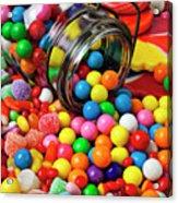 Jar Spilling Bubblegum With Candy Acrylic Print